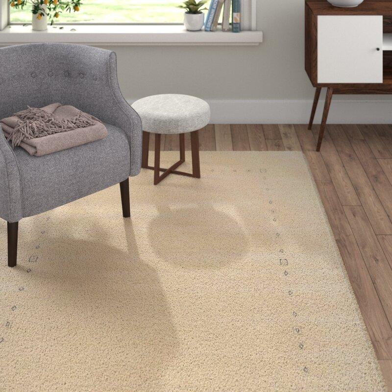 theko handgefertigter teppich harmony aus wolle in beige. Black Bedroom Furniture Sets. Home Design Ideas
