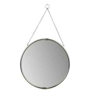 Brea Decorative Round Hanging Wall Accent Mirror