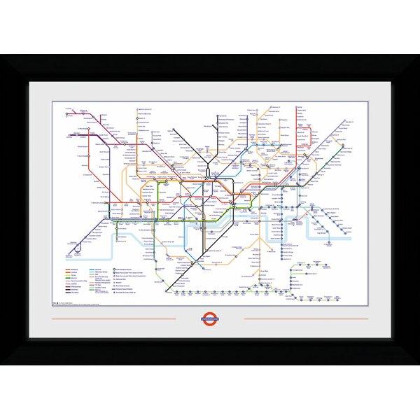 Framed London Underground Map | Wayfair.co.uk