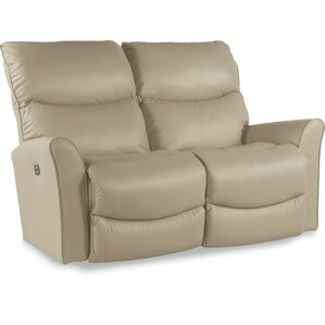 Rowan Power-Recline-XRW Reclina-Way? Full Leather Reclining Loveseat by La-Z-Boy