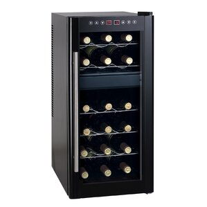 18 Bottle Dual Zone Freestanding Wine Cooler by Sunpentown