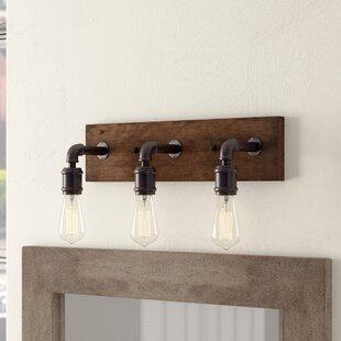 Reclaimed wood vanity light wayfair davidson 3 light vanity light aloadofball Images