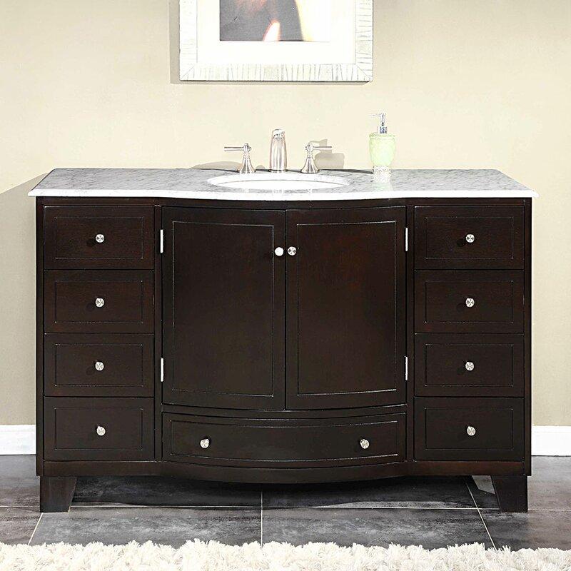 "Silkroad Exclusive Naomi 55"" Single Bathroom Vanity Set"