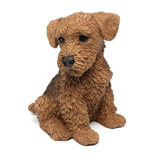 Airedale Puppy Dog Figurine