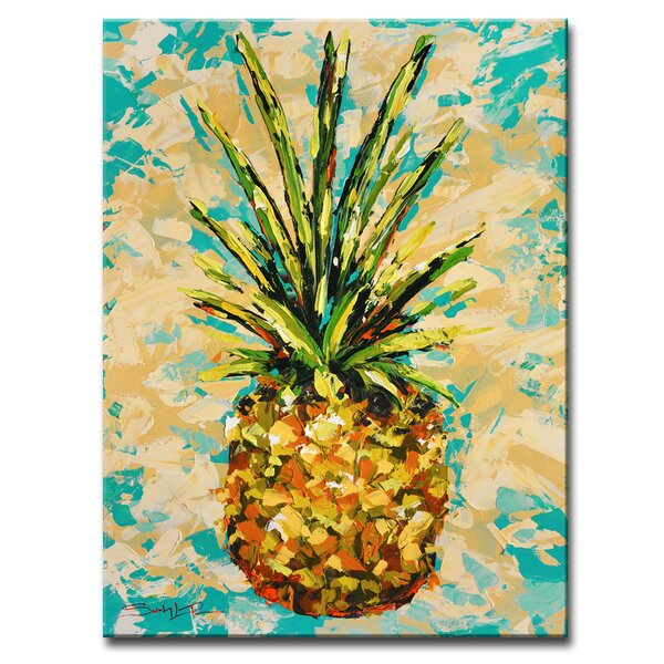 Ready2hangart Fiesta Pineapple By Sarah Lapierre