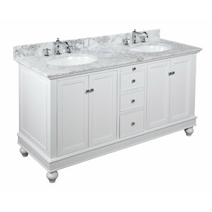 Bathroom Vanities Double Sink 60 Inches double vanities you'll love | wayfair