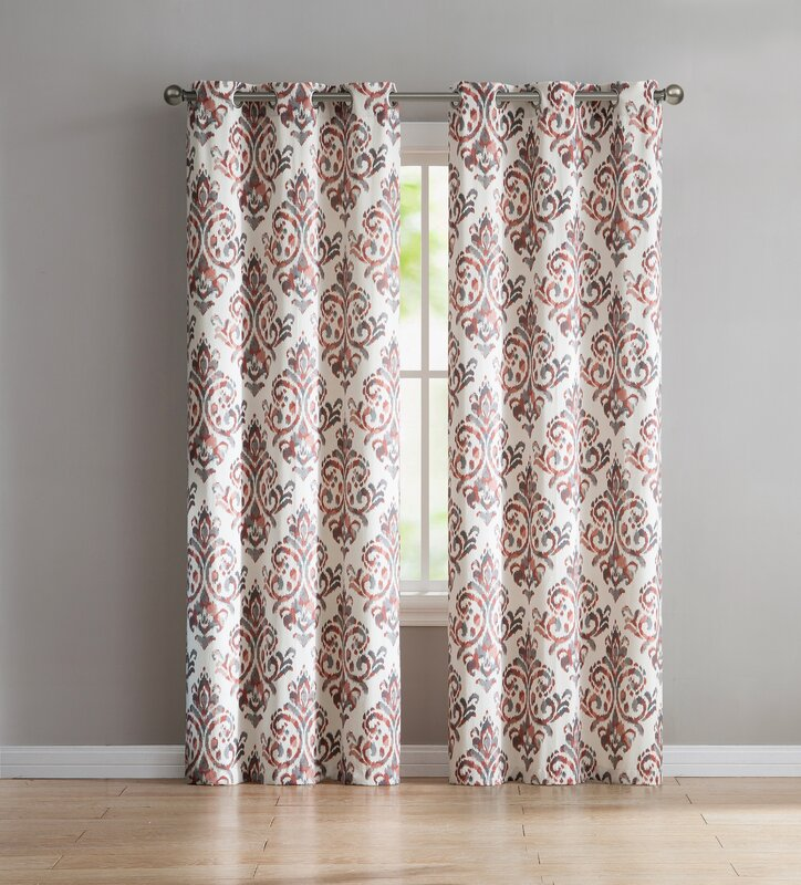 Charlton Home Blumenthal Geometric Semi Sheer Grommet