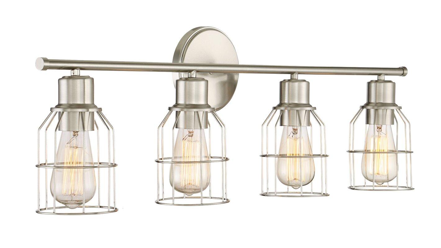 Bathroom vanities light fixtures - Saltzman 4 Light Vanity Light