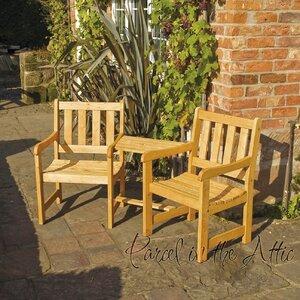 2-Sitzer Gartenbank Jack & Jill aus Massivholz von Parcel in the Attic