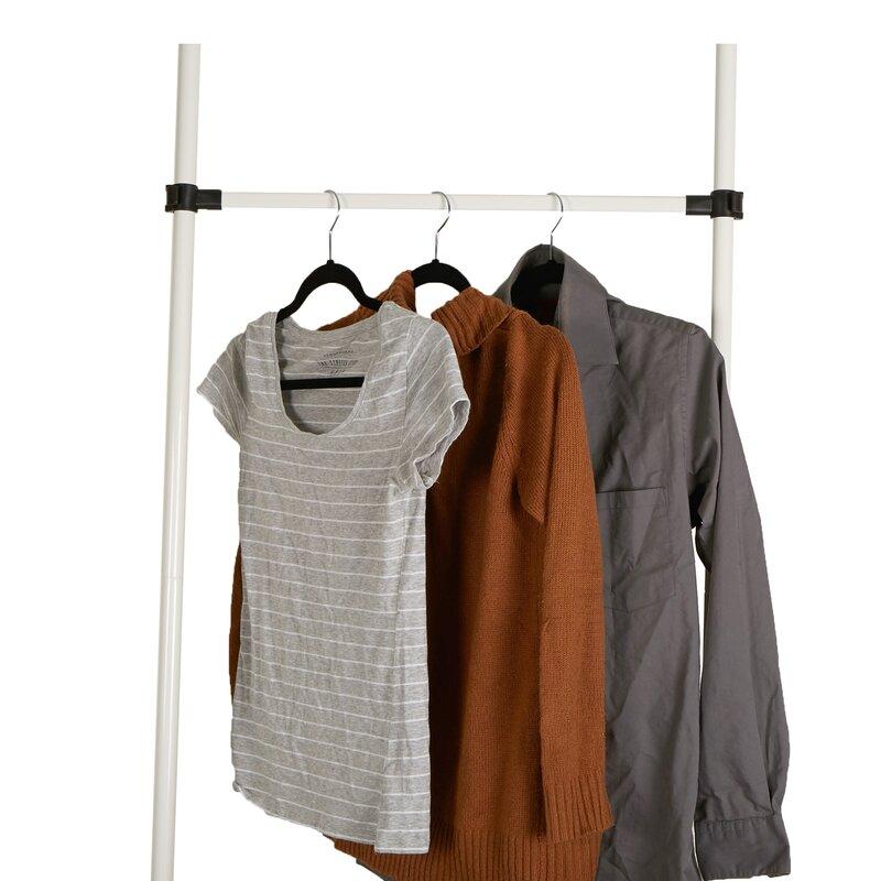 10 43 W 2 Bars And Shelves Garment Shoes Rack