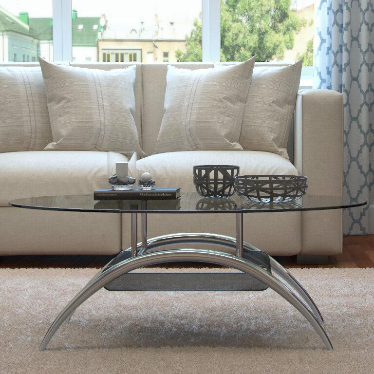 Captivating Cleveland Coffee Table With Magazine Rack