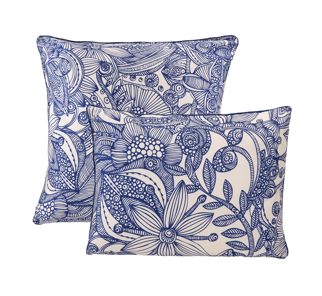 Valentina Flowers And Doodle Microfiber Decorative Throw Pillow Wayfair