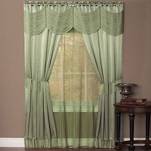 Dante Solid Semi-Sheer Rod Pocket Single Curtain Panel