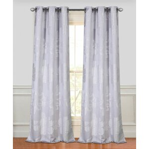 Floral Park Nature/Floral Semi-Sheer Grommet Curtain Panels (Set of 2)