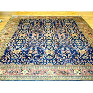 Ferehan Hand-Knotted Blue Area Rug