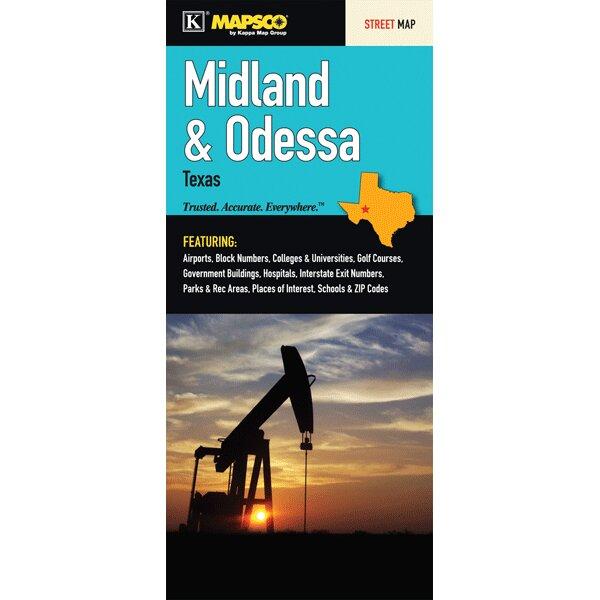 Universal Map Midland/Odessa Texas Fold Map