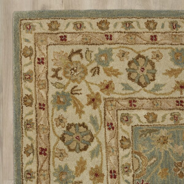 Alda Blue Beige Oriental Wool Hand Tufted Area Rug
