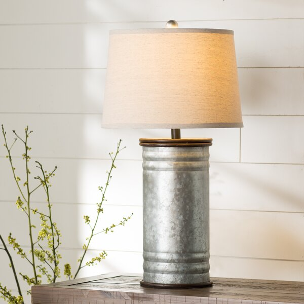 "Harnois Steel Tin Can 28"" Table Lamp & Reviews"