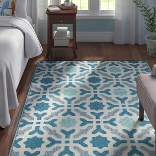 Martina Hand Woven Blue Indoor/Outdoor Area Rug By Andover Mills