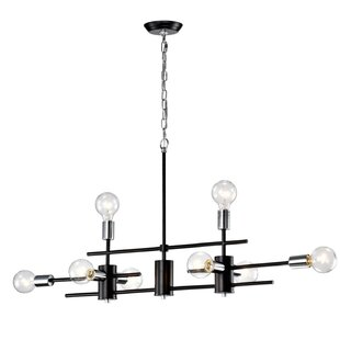 Brixham Exposed Bulb Linear 8 Light Novelty Chandelier