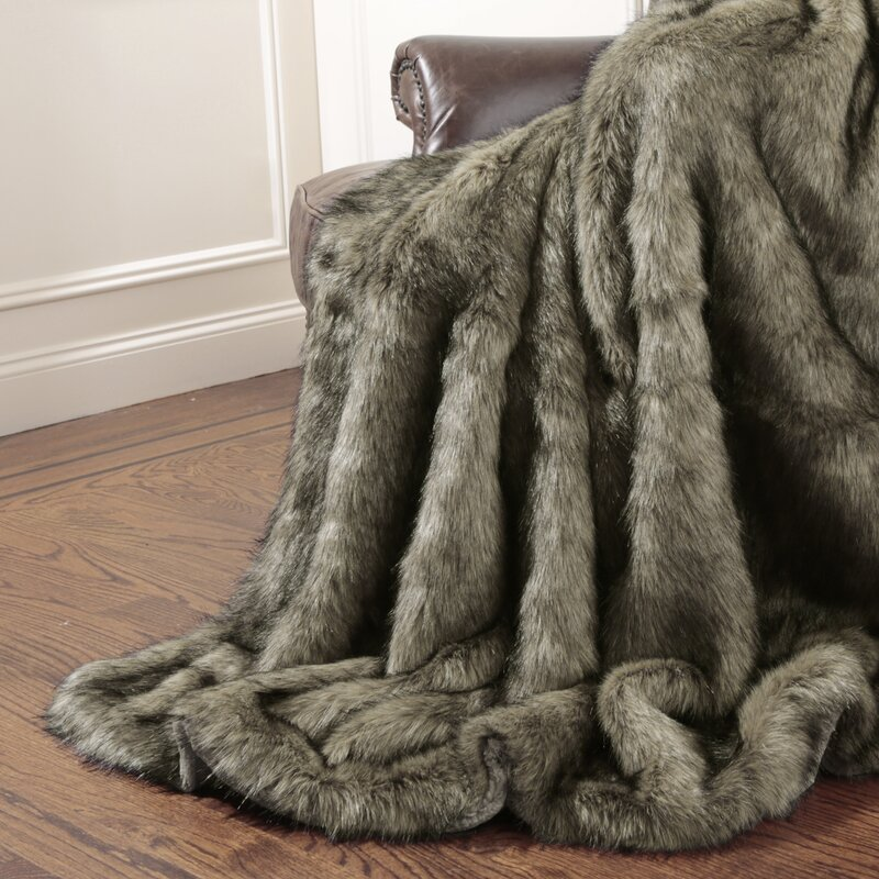 Wild Mannered Tawny Fox Faux Fur Throw Blanket & Reviews | Wayfair : faux fur quilt - Adamdwight.com