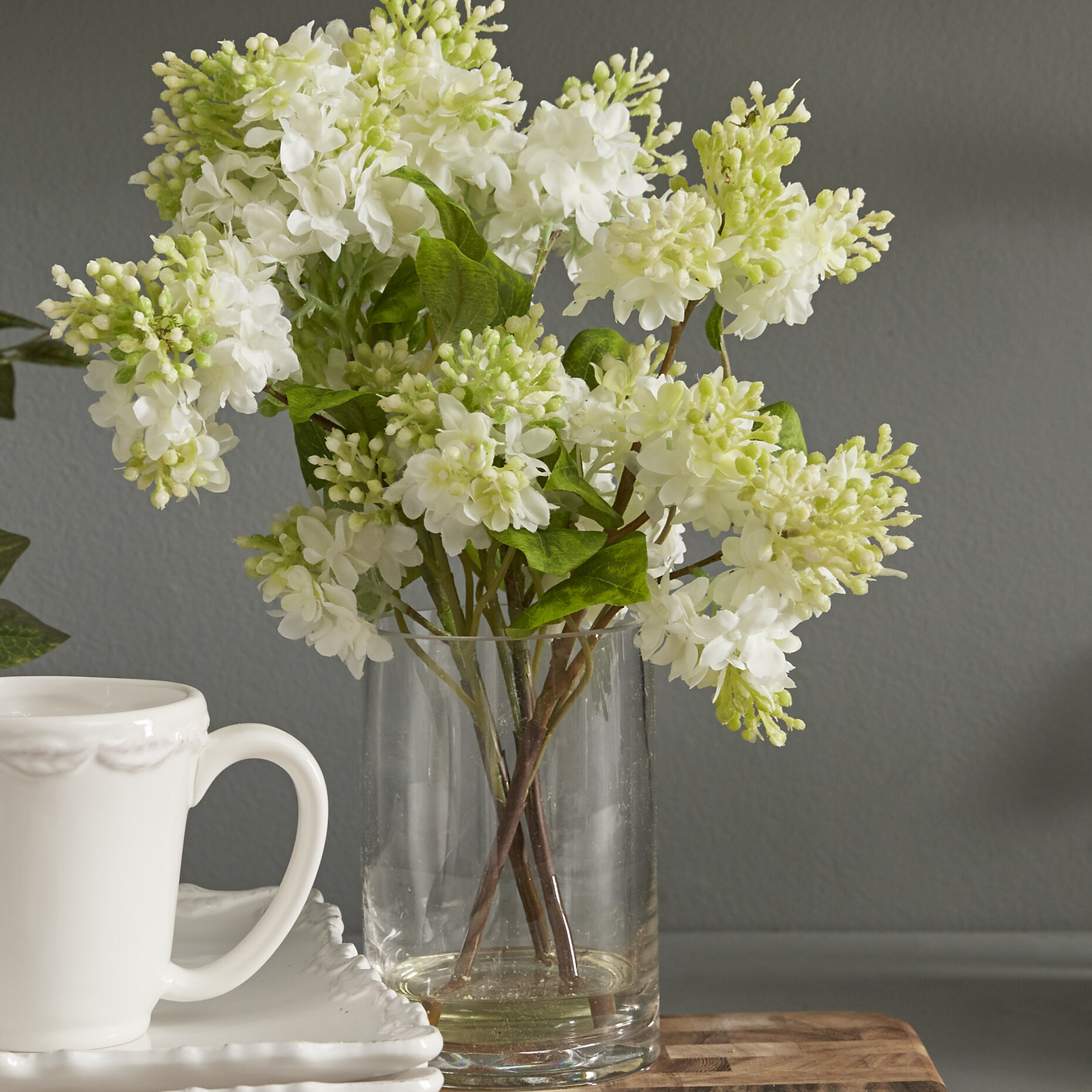 225 & Quincy Lilac Silk Flower Arrangement in Vase