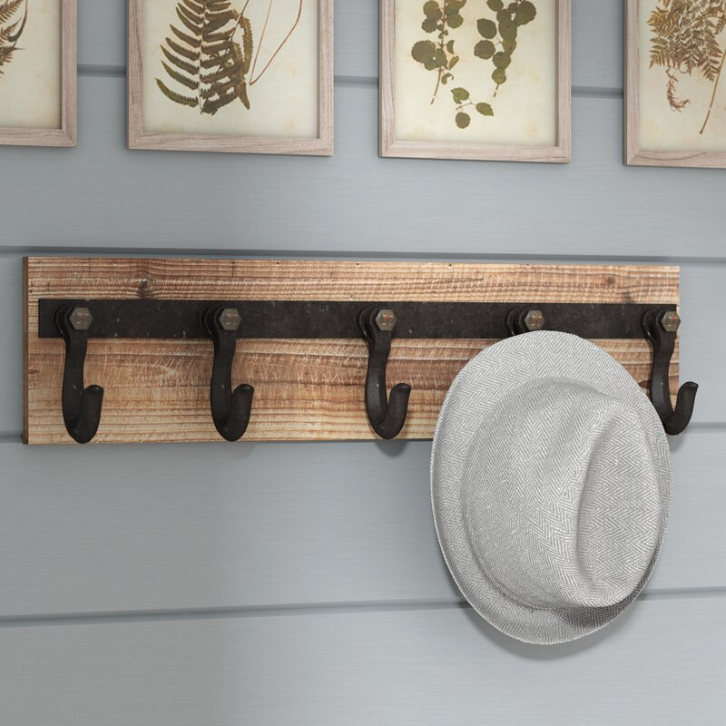 Laurel Foundry Wood And Iron Wall Mounted Coat Rack Reviews Awesome Wall Mounted Coat Rack