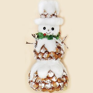 Snowman with Pinecones