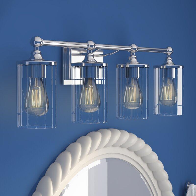 Beachcrest Home Gotha 3 Light Vanity Light Reviews: Beachcrest Home Hague 4-Light Vanity Light With Clear Beveled Glass & Reviews