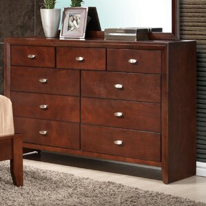 Carolina 9 Drawer Dresser with Mirror by Global Furniture USA