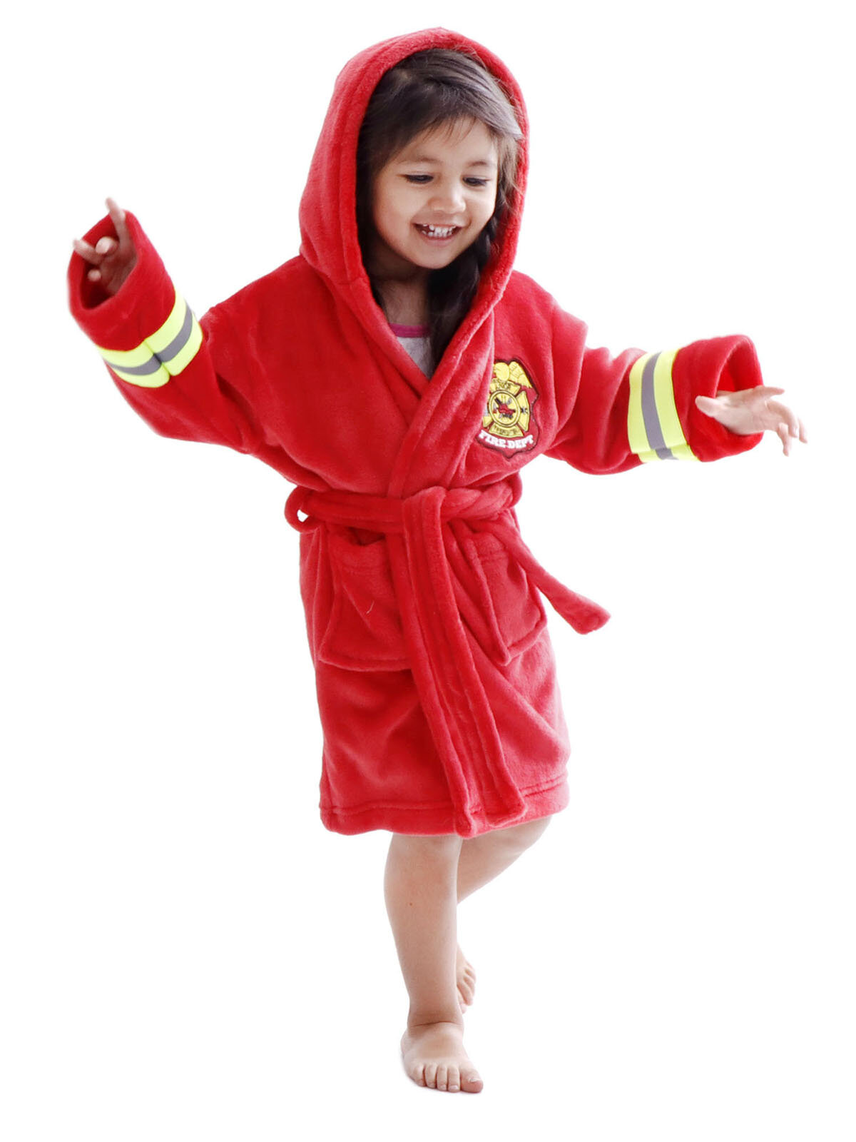 7cf54c5487 Zoomie Kids Giambrone Heroes Fireman Terry Cloth Bathrobe