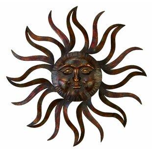 Eclectic Iron Celestial Sun Wall Decor