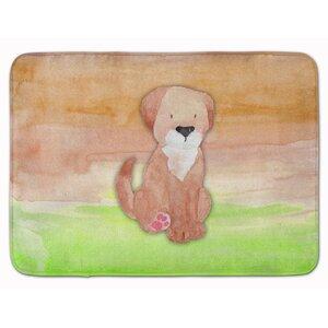 Harriett Dog Watercolor Memory Foam Bath Rug