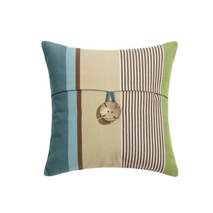 03032fdc Ludovic Exotic Coconut Shell Button Summer Striped Cotton Throw Pillow  Cover (Set of 30)