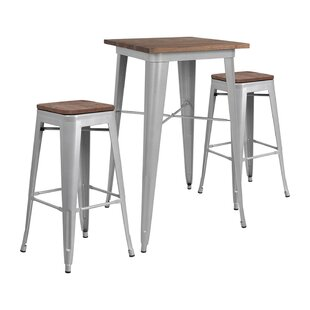 Mozingo Square 3 Piece Pub Table Set