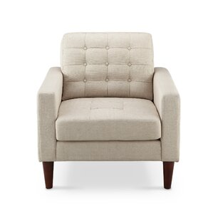 Amore Tufted Buttons Armchair by Mercury Row