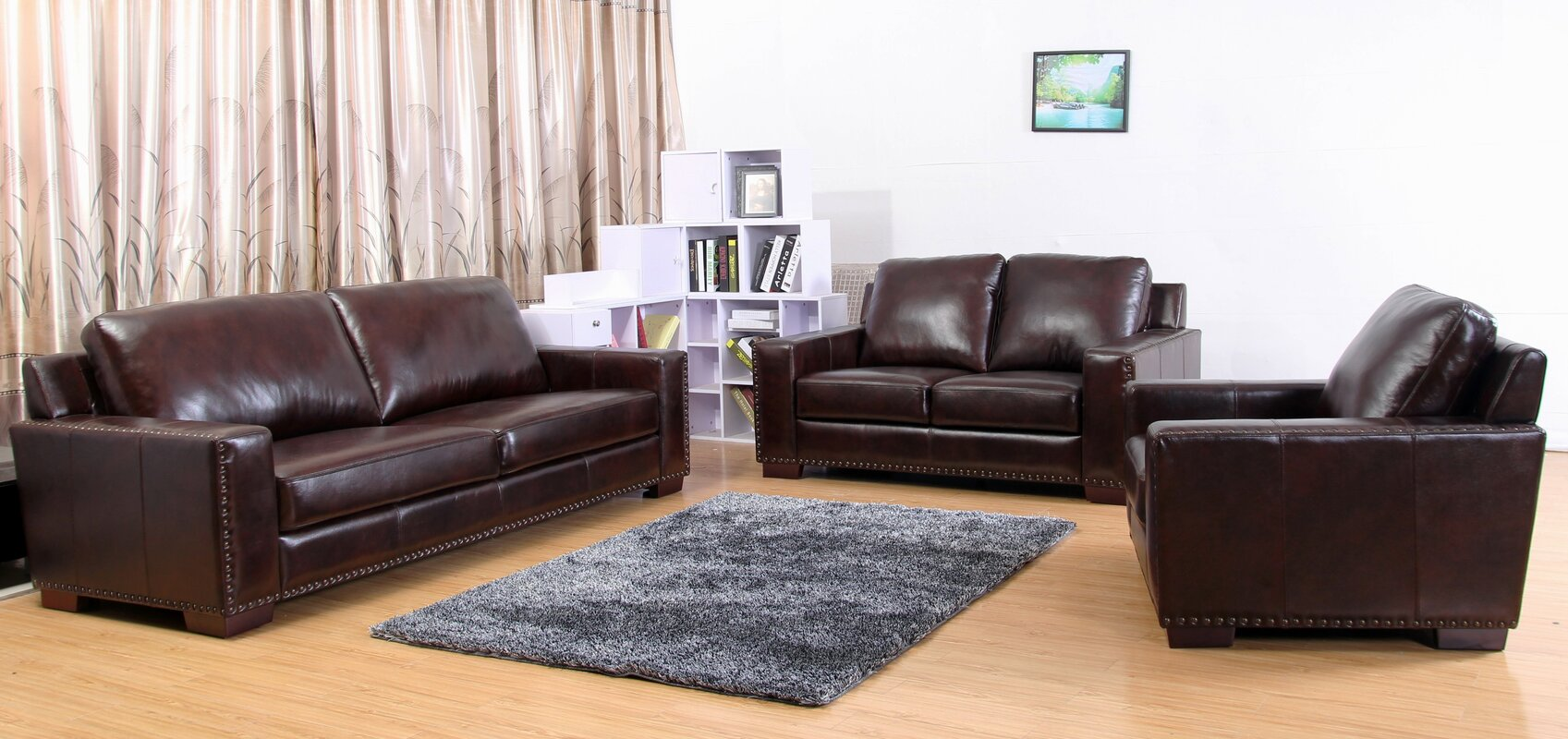 three piece living room set. Portsmouth Leather 3 Piece Living Room Set Red Barrel Studio