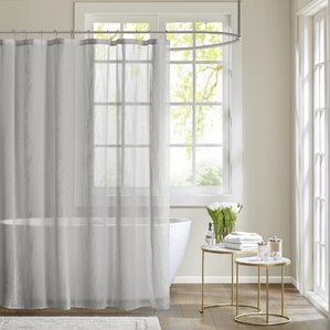 white and silver shower curtain. Ospina Shower Curtain Modern Gray  Silver Curtains AllModern