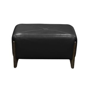 Monaco Leather Ottoman by Diamond Sofa