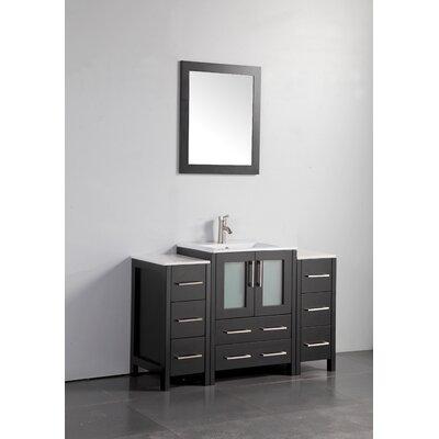 Wade Logan Karson Bathroom Vanity Set With Mirror Wayfair - Bathroom vanities overland park ks