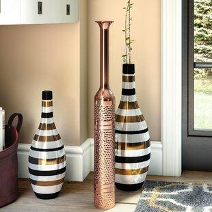 Aged Copper Decorative Floor Vase