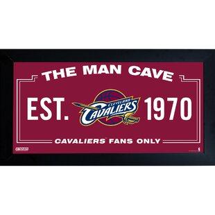 Nba Framed Man Cave Sign Memorabilia