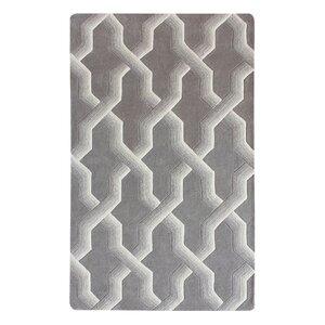 Bollman Wool Hand-Tufted Gray/Ivory Area Rug
