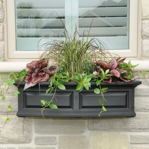 Nantucket Self-Watering Plastic Window Box Planter