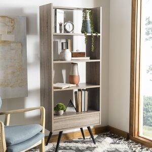 Taryn Retro Mid Century Wood Standard Bookcase