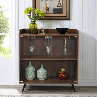 Bar Cabinet With Glass Doors   Wayfair
