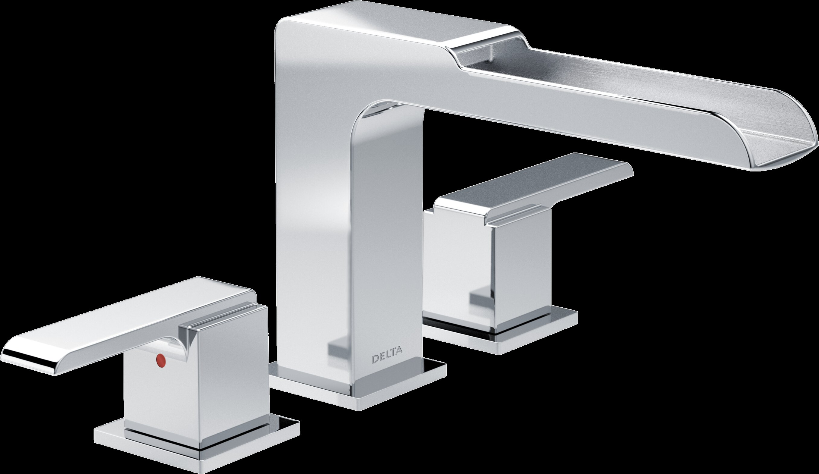 Delta Ara Roman Two Handle Deck Mount Tub Filler Trim with Channel ...