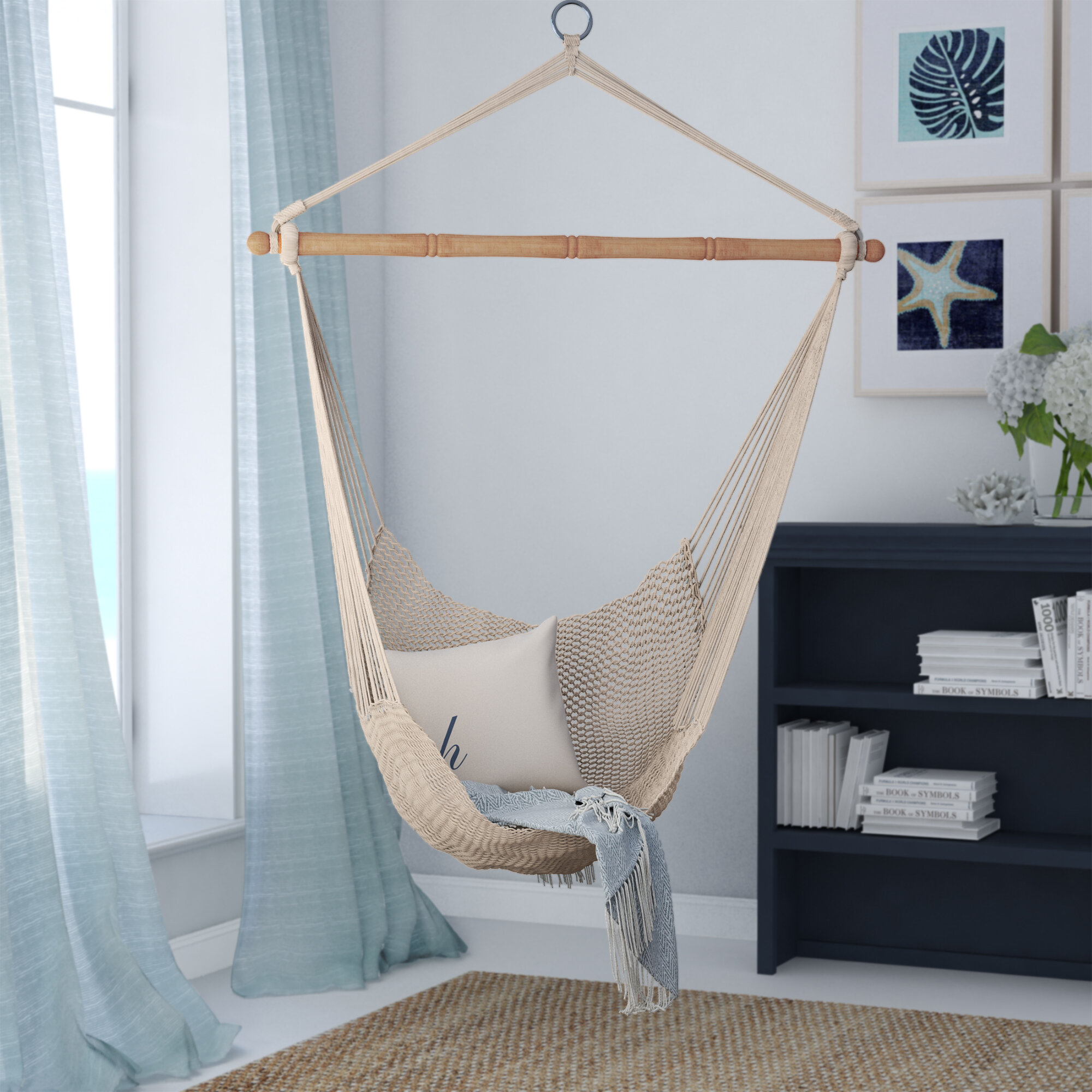 Beachcrest Home Crowell Rope Cotton Chair Hammock U0026 Reviews | Wayfair