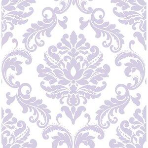 Purple Ariel Peel And Stick Wallpaper Roll