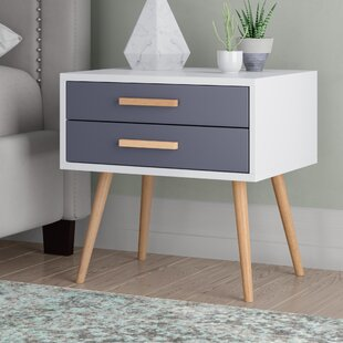 Scanio 2 Drawer Bedside Table